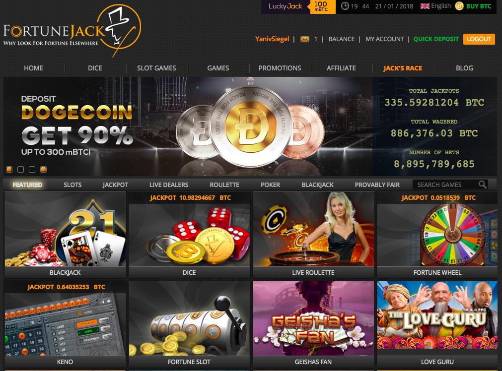 FortuneJack Dogecoin banner.png